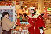 40 Jahre Surseepark - Die Drei Könige überraschen Kunden beim Einkauf