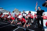 Swiss Athletics / Jungfraubahnen / HUBLOT - Powell sprintet gegen Cologna auf dem Jungfraujoch